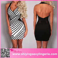 www xxx com wholesale American style halter mesh young lady fashion dress