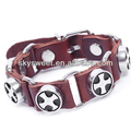 Diy pulsera cruz, italia nueva moda pulsera de cuero