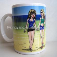 canecas para sublimation/wedding door gift mug/sexy color changing ceramic mug