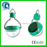 Super quality 11 led mini hanging light bulb,path light solar hanging light,led color changing light tube