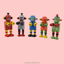 educational toy for kids wooden color changed robot block wooden robot toy