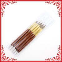 B003 Popular 5pcs/Set Wholesale Lowest Price Profashional Wooden Handle Double Use Dotting Tools Nail Art Pen