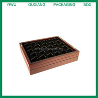 """Coin Tray for 28 Air-Tite """"A"""" Capsules fits in Mahogany Wood Coin Display Case"""