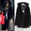 New Women Winter Fashion Warm Faux Fur Hooded Jacket Coat Outwear Long Sleeve