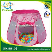 pink portable folding play tent kids play hut