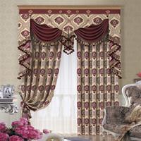 100% polyester jacquard printed curtain fabric