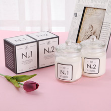 Scented Soy High Quality Clear Glass Candle with lid