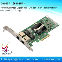 High compatibility Intel 82571 9402PT gigabit PCI express ethernet card for sever