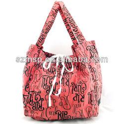All over print canvas shopping tote bag spring season