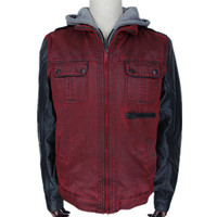 men's duck canvas casual sprot motorcycle jacket men's coat from China
