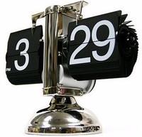 Retro foot automatically flip bell small scale creative clock