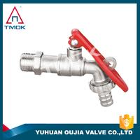 "TMOK 1"" Brass valve hose bib lockable butterfly handle"