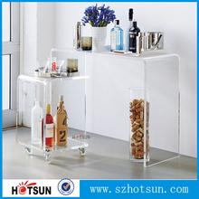 Custom clear acrylic tables fashionable acrylic furniture