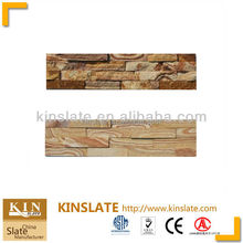 Natural sand stone 15x60cm brick wall panel decoration
