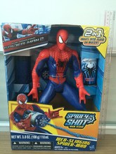 Hot Spiderman-2 movie cool figure toy shot web fluid