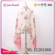Make Flower Print Winter Wear Wool Shawl