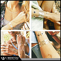 Butterfly Gold Metallic Flash Bracelet Jewelry Custom Temporary Tattoo