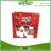 PP Woven Wine Bag With Dividers, wine tote bag, wine carry bag