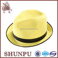 mini fedora hat rack,yellow straw hat,boy straw fedora hat