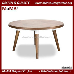 MA-078 Living Room Table, Round Wooden Coffee Table
