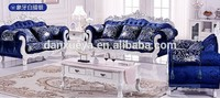 vintage sofa antique reproduction interior blue fabric office furniture islamabad DXY-3048#