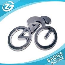 ABS Plated in Chrome Cycling 3D Chrome Auto/ Car Emblem