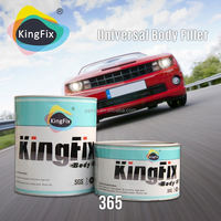KINGFIX Brand yellow color fast drying body filler in car paint