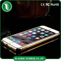 Luxury Styple Aluminum Material For iPhone 6 Mirror Case Cover + Metal Bumper