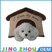 High quality shark shaped plush cheap cat houses soft dog indoor houses plush dog house