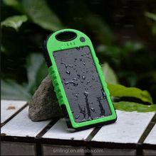 best seller 2USB Solar charger 5000mAh portable mobile ph body solar mobile power
