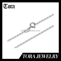 fashion 925 sterling silver O shaped chain necklace wholesale