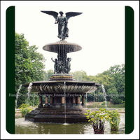 Large Bronze Angel Water Fountain Outdoor For Sale