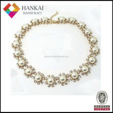 2015 hot selling pearl necklace , wedding favors pearl necklace, pearl collar