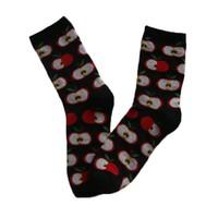 GSW-131 GS custom design cotton knitted women fruit socks with apple design