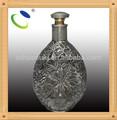 Artículo HSB020 - Botella de vino de vidrio de forma peculiar, botellas decorativas de vidrio con tapón