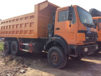 shanghai used condition nice Beibeng 25t dump truck for sale second hand dump truck in shanghai with good condition
