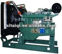 6 cylinder 230kw water cooled diesel generator engine