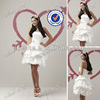 Cute Sweetheart Satin Knee-Length Puffy Sexy Short Wedding Dress 2014