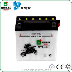Battery Manufactory Dry Charged 12V 9 AH Motorcycle Battery for 12N9-4B