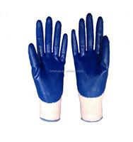 white yarn nitrile glove,nitrile coated gloves