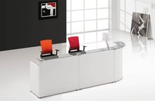 Modern office furniture glass reception counter