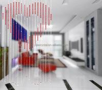 windows curtain design crystal heart shape curtain for living room