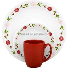 melamin çiçek toptan plastik çay bardak ve tabaklar toplu