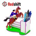 Juguete educativo del Color de su caballo de madera de montar sostenedor de la pluma