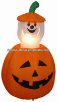 120cm Halloween inflatable pumpkin with animated ghost inside