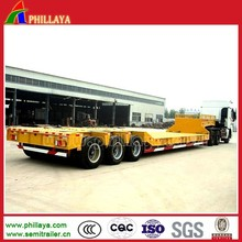 Steel Material Low Bed Semi Type Commercial Vehicle Trailer For Bulk Cargo Transport
