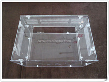 Clear cheap artificial acrylic pet display cage for sale