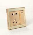 aplicar a decoração moderna material pc tomada e interruptor de integração