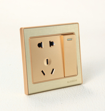 Apply modern decoration PC material wall socket and switch integration