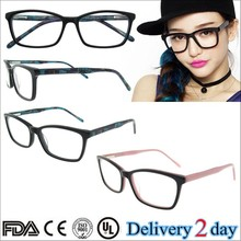 Latest designer fashion acetate optical frames from china eyeglasses manufacturer good quality eyewear with CE certificate